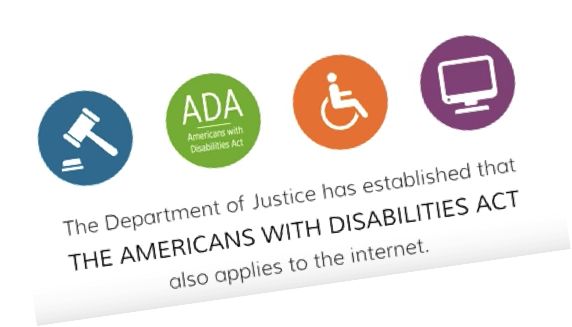DOJ established that Americans With Disabilities Act applies to the Internet Image